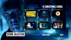 BBC DVD DOCTOR WHO DOCTOR WHO - A CHRISTMAS CAROL menu graphic Micheal Gambon