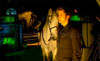DOCTOR WHO - THE GIRL IN THE FIREPLACE - The Doctor (David Tennant) and a horse. Nice.