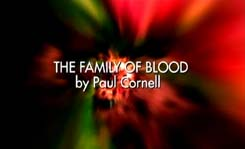 DOCTOR WHO - SERIES 3 - THE FAMILY OF BLOOD - PAUL CORNELL